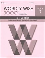 Wordly Wise 3000 Grade 7 Tests **3rd Edition**