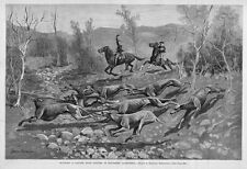 Frederic Remington Running A Coyote With Hounds Hunting In California Stag-Hound