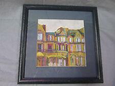 Brownstones signed print Celeste Langlois / Woodes Koper ( Massachusetts )