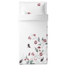 Ikea Jattelilja Duvet Cover & Pillowcase(s) White Floral Patterned Twin