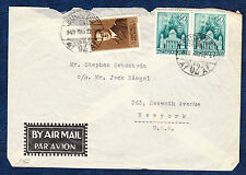 HUNGARY 1940 MULTI FRANKED AIRMAIL COVER TO USA