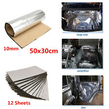 10mm Car 12 Sheets Sound Proofing Deadening Insulation Closed Cell Foam 30×50cm