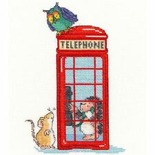 BOTHY THREADS LONDON CALLING CROSS STITCH KIT RED TELEPHONE BOX