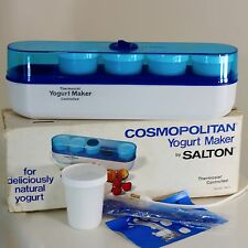 Salton Cosmopolitan Yogurt Maker 5 Glass Jars Thermometer Spoon Full Instruction
