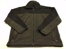 Columbia Fleece Hoodie Full Zip Jacket Mens Size XXL 2XL Gray with Black Trim