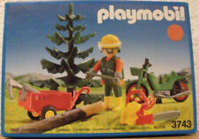 Very Rare Vintage 1992 Playmobil 3743 Lumberjack Forest New In Sealed Box