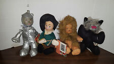 "Wizard of Oz The Merry O Collection 8"" Plush Tinman,Lion,Scarecrow and toto"