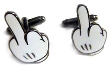 Mickey Mouse MIDDLE FINGER Hand Disney F YOU Cufflinks Cuff Links Pair Set