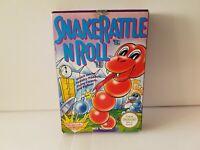Snake Rattle N Roll - Nintendo NES PAL A UKV game CIB boxed