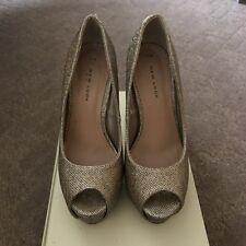 New Look Gold Glittery Heels