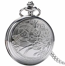 Doctor Who Vintage FOB Silver Finish Pendant Pocket Watch