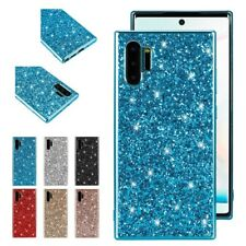 Fr Samsung S20 S9 Note 10 Plus Glitter Bling Ultra Slim Silicone Back Case Cover