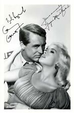 KISS THEM FOR ME - CARY GRANT & JAYNE MANSFIELD SIGNED A4 PP POSTER PHOTO