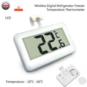 Digital Fridge / Freezer Thermometer -- Waterproof, LCD, Wireless & Hanging Hook