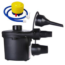 100-240V Electric Air Pump Power Inflator Blower w/3 Nozzle For Swimming Pool