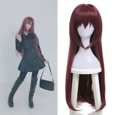 Fate/Grand Order Servant Scathach Cosplay Wig Wine Red Long Straight Bang Hair