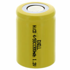 4/5 SubC 1.2V 1300mAh Flat Top Rechargeable Battery For LED Lights Hobby Alarms