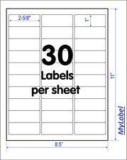"3000 Address Mailing Labels(2-5/8"" X 1) Self Adhesive 30pcs/sheet"