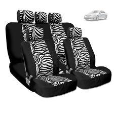 NEW PREMIUM GRADE BLACK MESH ANIMAL ZEBRA TIGER PRINT CAR SEAT COVERS FOR TOYOTA