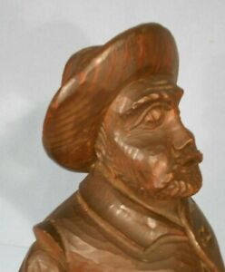 ANTIQUE VICTORIAN BLACK FOREST CARVING OF A FAT MAN