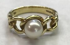 Tiffany & Co 18k Yellow Gold Pearl Ring  - Size 7