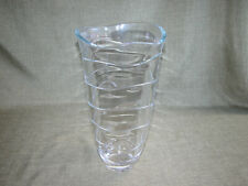 """Large, heavy glass vase. The walls of vase are approximately 3/8"""" thick. 13 1/2"""""""