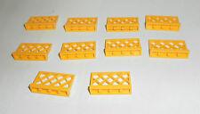 LEGO 10 x Zaun Zäune Gitter Gatter gelb yellow 1x4x2 | yellow fence 3185