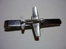 Modern Pewter on Tie Clip (slide) Grumman F6F Hellcat c90 Aeroplane Fine English