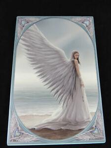 """Anne Stokes """"Spirit Guide"""" Large Ceramic Art Tile Gothic Fantasy"""