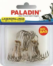 Paladin Big Bag Laserdrillinge Nickel 15 Stk. Gr. 2/0 Drilling Angel-haken