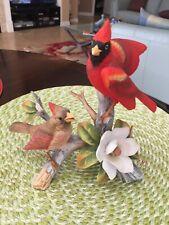 Andrea By Sadek Japan Cardinal Birds Figurine Beautiful Condition # 6229