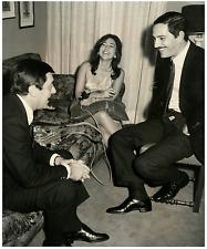 Roma, Festa in casa Luttazzi con Nino Manfredi e P. Mori Vintage silver print,
