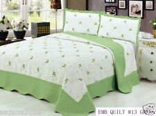 Quilt King Size 3 piece Bedding Bed set / Bedspread / Embroidered