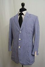 Men's Ralph Lauren Tyler Check Blue & White Cotton Sports Jacket 40R SS8879