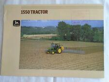 John Deere 1550 Tractor brochure undated English text ref 5-1894070