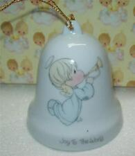 "Vintage1985 Enesco Precious Moments Christmas Hanging Bell ""Joy To The World"""