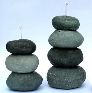 Candles - Stone / Cairn Shaped - 2 sizes