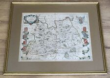 1663 - 1667 SURREY Genuine Antique Map by Joannes Blaeu Framed & Glazed