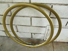 "ARAYA AERO RIMS 36 HOLE GOLD 20"" BMX SEW UPS MINI JR RACING VINTAGE super clean"