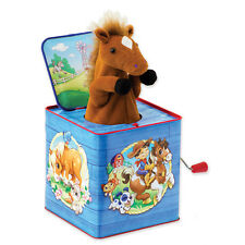 Poppin Pony Horse Musical Jack In The Box Tin Toy NEW Schylling NEW CLASSIC