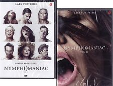 2 Dvd Lotto Stock **NYMPHOMANIAC VOL. 1+2** Lars Von Trier nuovo 2014