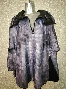 Champion 1/2 Zip Windbreaker Jacket Pullover Triangles Womens Side Zip Waist NWT