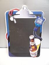 Vintage 2000 Coors Light Beer Advertising Football Hanging Bar Sign Chalkboard