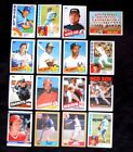 Lot of 16 Assorted Teams, Players & Brands MLB Baseball Trading Cards 1979-1984