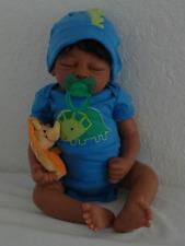 "Reborn 19"" African American Sleeping Newborn Baby Doll ""Marlo"""