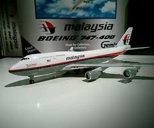 Gemini Jets GJMAS299 Malaysia Airlines 1/400 scale Boeing 747-400 9M-MHL model