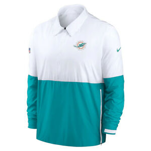 Brand New 2021 NFL Miami Dolphins Nike Sideline Coaches Half-Zip Dri-FIT Jacket