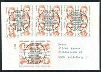 Berlin Mi.-Nr. 833 -4er / Paar als Mehrfrankatur - MeF - FDC