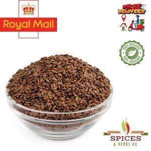 100%Organic Flax seeds/Linseed siemie lniane A-Grade Premium Quality Free UK P&P
