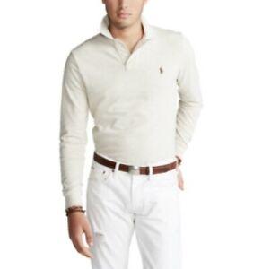 Polo Ralph Lauren Men's Big & Tall Mesh Polo Shirt American Heather Size 2XLT